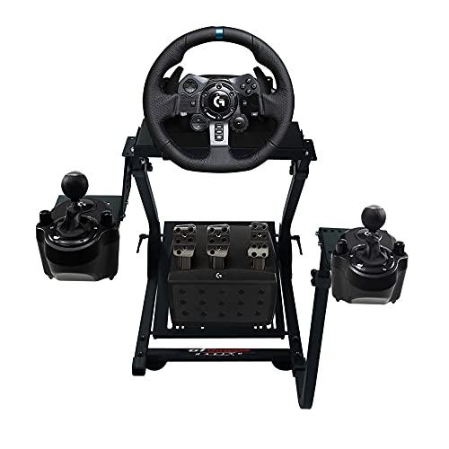 GT Omega Soporte de Volante PRO para Logitech G29 G920 G923 Thrustmaster T500 T300 TX y TH8A Shifter Mount V1 - PS4 Xbox Fanatec Clubsport - Diseño Ajustable en inclinación para la experiencia Sim Racing