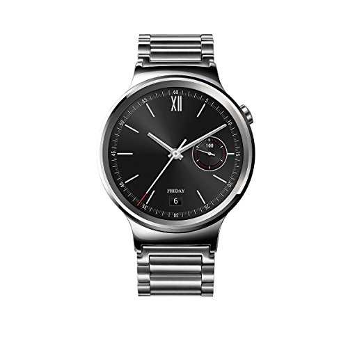 Huawei Watch Classic mit Gliederarmband in silber