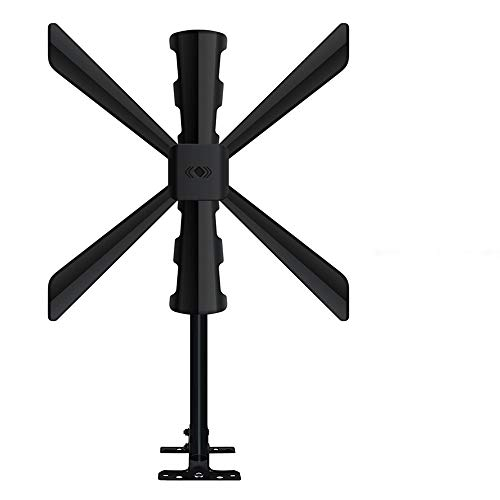 Amplified TV Antenna-Indoor/Outdoor Digital HDTV Antenna with up to 150 Mile Range,Amplified Signal Booster Support Fire TV Stick 4K 1080p All Older TV Channels, Mounting Pole