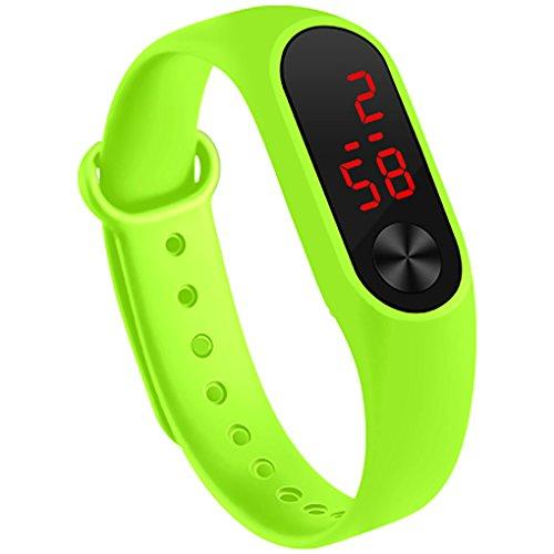 Fan Kouyang LED Uhr Sportuhr wasserdichte leuchtende Digitaluhr Armbanduhr (Grün)