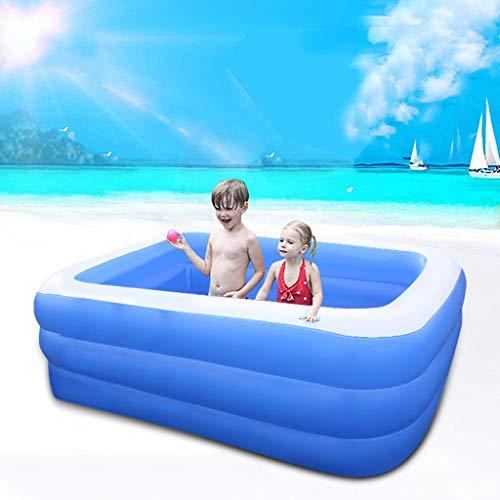 HYOON Family Pool, Pool rechteckig für Kinder, leicht aufbaubar, blau, 90x 50x 50 cm,Kinder Aufstellpool Planschbecken Schwimmbecken Swimmingpool Pool
