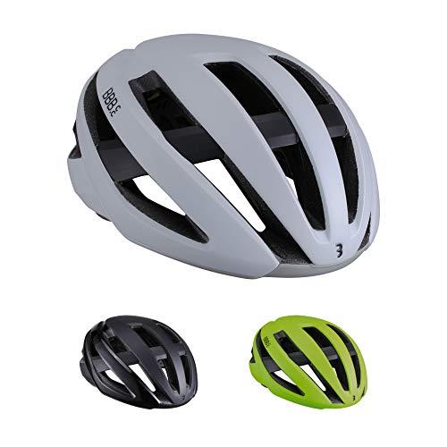 BBB Cycling Casco Unisex Maestro BHE-10 para Bicicleta de Carretera MIPS, Ligero, Ajustable, protección de Seguridad certificada CE para Hombre y Mujer, Color Blanco Mate, Talla Grande (58-62 cm), L