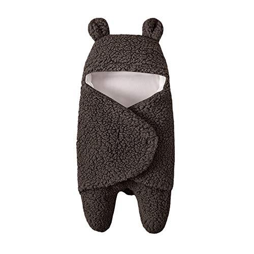 5656YAO Neugeborenes Baby Wickeln Swaddle Schlafsäcke Wrap Decke Wickel Einschlagdecke (Braun)