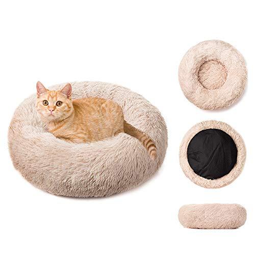 RAINBEAN Hundebett flauschig Haustuerbett Katzenbett Rundes Plüsch hundebetten für mittlere Hunde Hundesofa Katzensofa Haustierbet