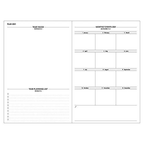 マークス手帳2021スケジュール帳ダイアリーEDiT1日1ページ2021年1月始まりB6変型リフィル21WDR-ETA-RFL
