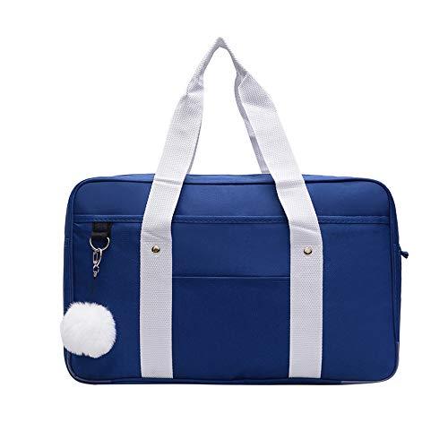 JK Bag Uniform Handtasche Schwarz, Blau Unisex Klassische Wasserdicht School Daypack Student Japanischen Anime Schulter Tragbare Leinwand Gymnasiast Cosplay Tasche (Color : Blue, Size : F)