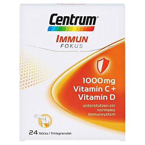 Centrum Immun Fokus – Gezielte Unterstützung der Abwehrkräfte – 1000mg Vitamin C, Vitamin D und Mineralstoffe – 1 x 24 Sticks