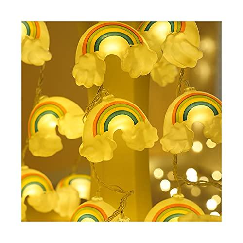Guirnalda de luces LED de arco iris, 10 pies, 20 luces LED de hadas con pilas, resistente al agua, para jardín, habitación, cocina, boda, fiesta, árbol de Navidad (color: 20-3M-Rainbow)