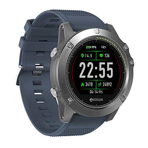 yimosecoxiang Zeblaze VIBE3 HR Impermeabile cardiofrequenzimetro Sport Smart Watch per Android iOS – Rosso