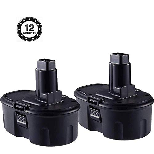 2 Pack 3.6Ah 18V Ni-MH Power Tool Replacement Battery for Dewalt 18 Volts DC9096 DC9098 DC9099 DW9095 DW9096 DW9098 DW9099 DE9039 DE9095 DE9096 DE9503 DE9098 DC9181