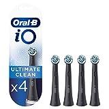 Oral-B iO Ultimate Clean Black Cabezales de Recambio Tamaño Buzón, Pack de 4 Recambios Originales para Cepillos de Dientes Eléctricos