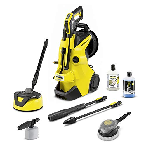 Kärcher K 4 Premium Power Control Car & Home high pressure washer: Intelligent app support - the right solution for heavier soiling - incl. hose reel and car & home kit