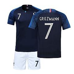 Camiseta Selección Francesa 1ª Equipacion 2018 Copa del Mundo GRIEZMANN Niño