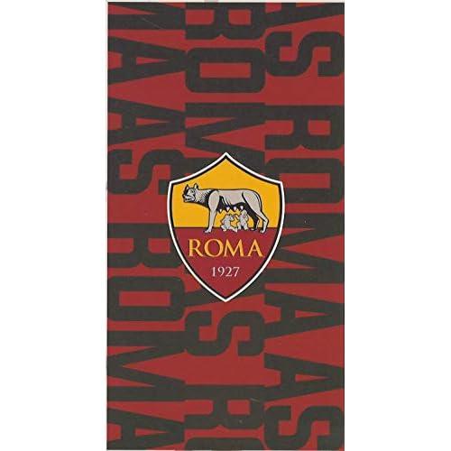 Telo Mare 100% Spugna di Puro Cotone Cinigliata Ufficiale Roma AS Originale Maxi cm 90 x 170