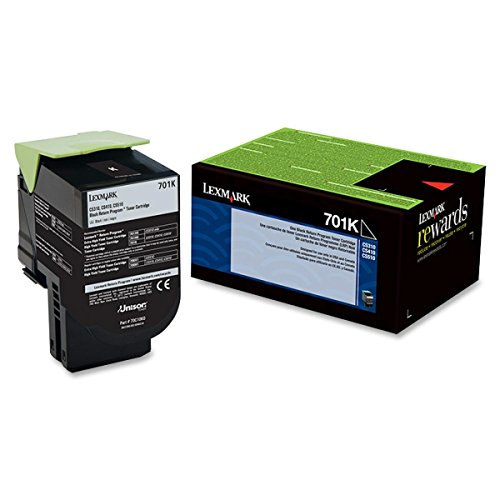 Lexmark 70C10K0 701K - Black - original - toner cartridge LCCP, LRP - for Lexmark CS310dn, CS310n, CS410dn, CS410dtn, CS410n, CS510de, CS510dte