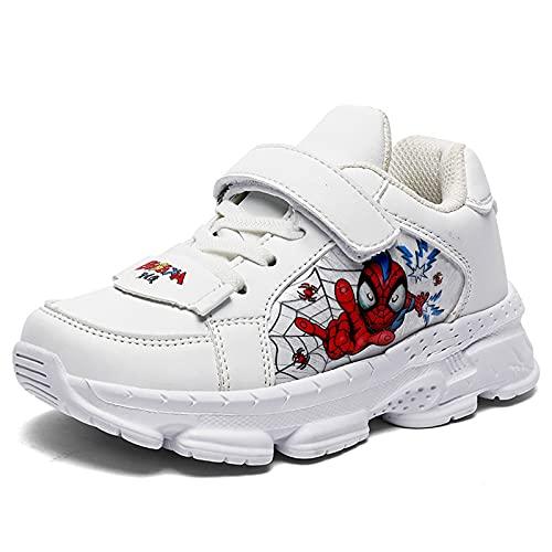 Zapatillas deportivas para niños y niñas, para exteriores, informales, transpirables, para correr, para niños y niñas, para deportes (tamaño: 27 UE, color: A-blanco)