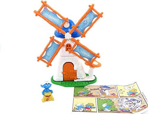 Kinder Überraschung Windmühle mit Schlumpf und BPZ aus dem Maxi Ei