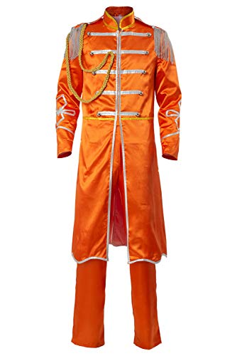 Cosplaysky The Beatles SGT. Pepper's Lonely Hearts Club George Harrison Costume Large Orange
