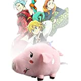 8 inches Great Eastern Entertainment Plush 7 Deadly Sins, Meliodas Ban and Hawk Pig Japanese Anime Roles for Christmas Birthday Gifts (1pc#C)