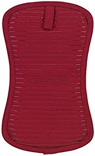 All-Clad Textiles Heavyweight 100-Percent Cotton Twill and Silicone Pot Holder, Chili by All Clad Textiles