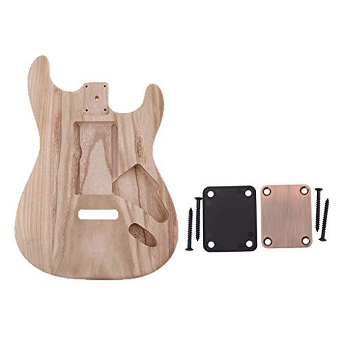 Sharplace Guitarra Electrica Sin Terminar con Placa de Mástil Fundas Accesorios Bajos
