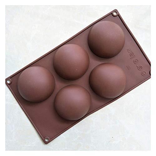 Cake Stencils Kuchen Schablonen, DIY Silikon 5 Zelle Halb Kugel Dome Schokolade Kuchen Backform Form,5Pcs