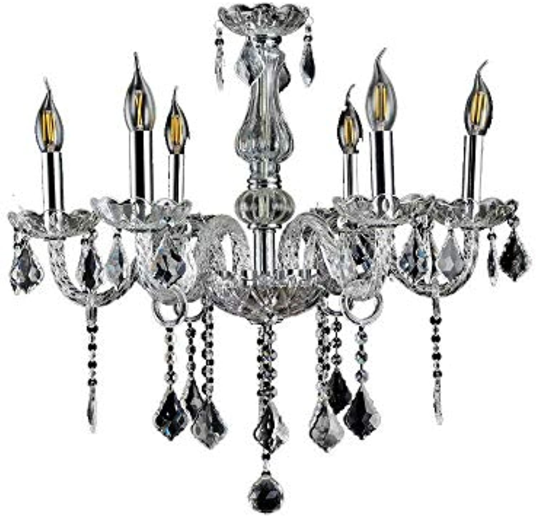 Chandeliers Light,Kristall Kronleuchter Vintage Lüster Deckenleuchte Pendelleuchte Klar Für Wohnzimmer Esszimmer Schlafzimmer (6 Flammig) Crystal Chandelier