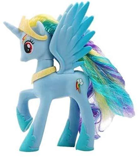 Einhorn Makeup Prinzessin Pferd PVC Action Spielzeug Figuren Kinder Spielzeug 14 cm hoch (Farbe: Prinzessin Cadance) YMMSTORY (Color : Rainbow Dash)