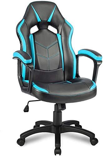 Sedia ergonomica da corsa, sedia da ufficio, traspirante, sedia direzionale da corsa, sedia girevole
