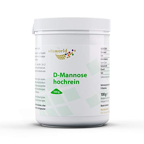Pack de 3 D-Manosa en polvo 3 x 100g Vita World Farmacia Alemania - Vejiga - Tracto Urinario