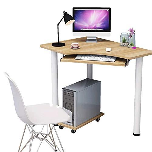 Corner Computer Desk, Multi-functie Desktop Balie, Kleine Huis Gaming Bureau, Staan Notebook Bureau, met Mainframe beugel (houten Desk)