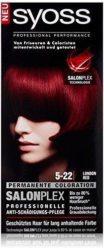 Syoss Haarfarbe, 5-22 London Red, 3er Pack (3 x 115 ml)