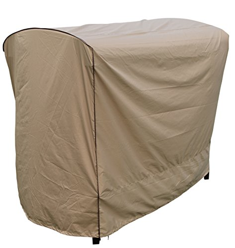 "SORARA Swing Chair Cover Outdoor 3 Triple Seater Hammock Swing Glider Canopy Cover, All Weather Protection, Water Resistant, 80"" L x 57"" W x 72"" H"