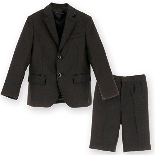 [キャサリンコテージ] 子供服 子供フォーマル 男の子 ブラックスーツ2点セット TK1103 100cm 黒・ヘリンボーン[BLK] TAK