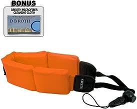 Floating Foam Camera Strap (Orange) For The Canon WP-DC34 (G11), WP-DC28 (G10), WP-DC21 (G9), WP-DC11 (G7), WP-DC35 (S90) Waterproof (Housing) Cases