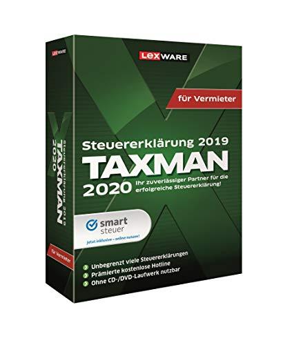 Lexware Taxman 2020 für das Steuerjahr 2019|Minibox|Übersichtliche Steuererklärungs-Software für Vermieter