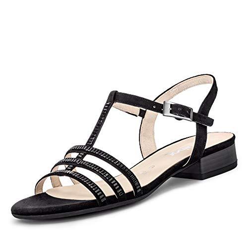 Gabor Comfort Sport Damen-Sandalen mit Knöchelriemen, Schwarz - Schwarz  - Größe: 39 EU