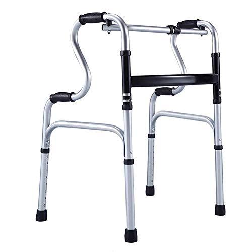 4 Wheel Rollator with Ancianos Walker, Marcha asistida, Ligero Plegable telescópica, Aluminio Walker, Cuatro Patas Antideslizantes de Hospital Bastón,B