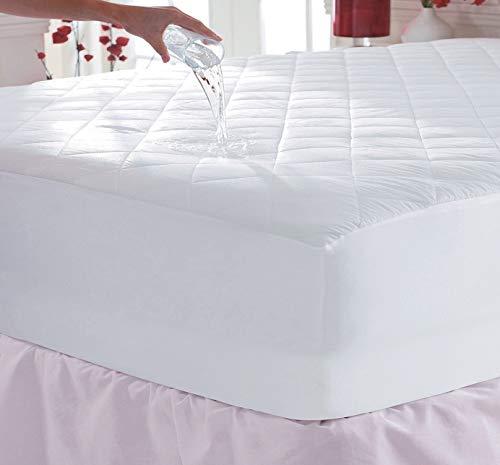 SELECT-ED Protector de colchón acolchado impermeable de Luxuries extra profundo de 30 cm aprox. (King 150 x 200 + 30 cm)