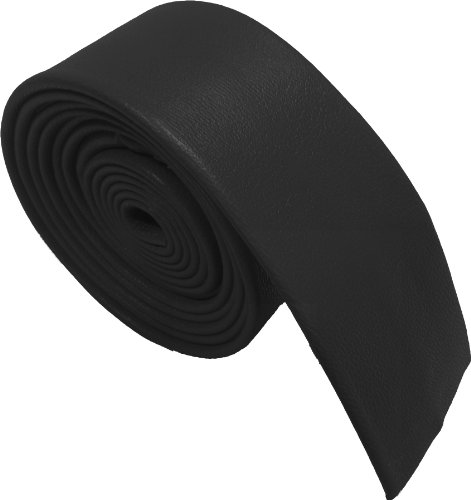 Hommes 100% Cuir Maigre Cravates - Différentes couleurs (Noir)