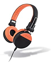 Meliconi 497429 Hörlurar i talstil – svart/orange