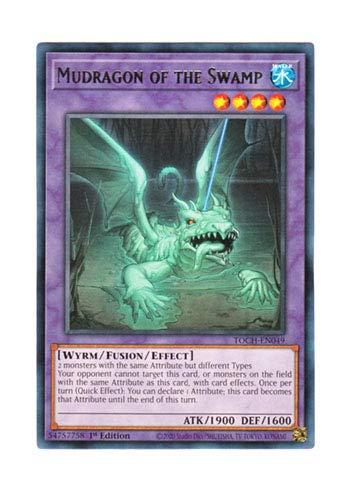 遊戯王 英語版 TOCH-EN049 Mudragon of the Swamp 沼地のドロゴン (レア) 1st Edition