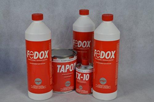 Set Fertan Tapox Tank-Innenbeschichtung & 3 X Fedox Tankentroster a 1 Liter Tanksanierung