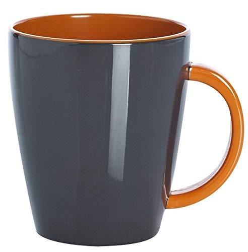Gimex Campingartikel Henkelbecher 035l Grey line Orange/Grau, 550/061