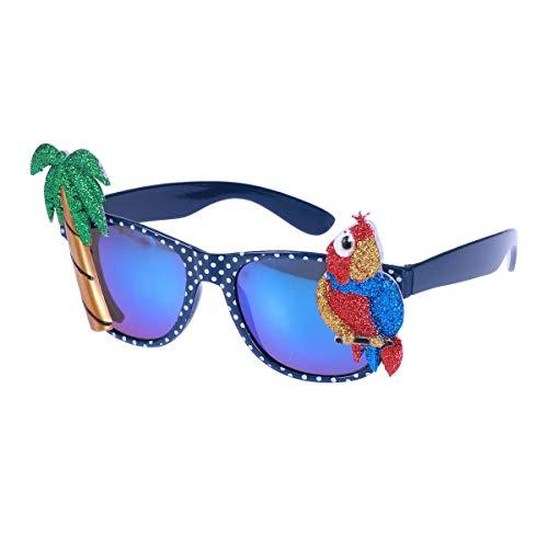 BESTOYARD Hawaii-Sonnenbrille-lustige Glas-Papageien Coco Eyeglasses für Maskerade-Partei-Tanz-Make-up
