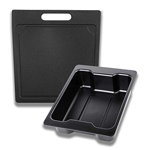 Beast Cooler Cutting Board Divider & Dry Good Tray and Storage Basket Combo - Designed Specifically to Work w/ The New Yeti Haul Wheeled Cooler - Bundle of 2