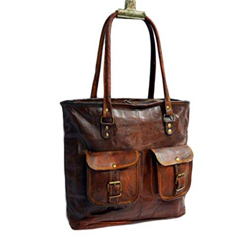 Mad Over Shopping, Bolso de cuero genuino bolso de mano artesanal de compras de hombro bolsa de hombro