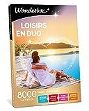 Wonderbox – Coffret cadeau - LOISIRS EN DUO – 8 000 activités :séjours de charme, balades en pirogue ou en voilier, spectacles pour 2 personnes, sessions de laser game