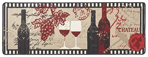 Hanse Home 102623 Teppichläufer, Polyamid, schwarz / beige / rot, 67 x 180 x 0.8 cm