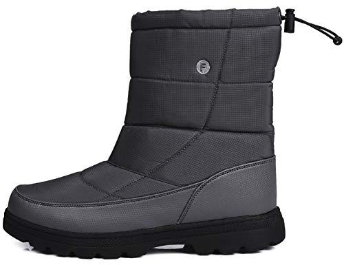 SINOES Herren 018 Klassische Stiefeletten Biker Boots Outdoor Stiefel Kletterschuhe Grau 44 EU